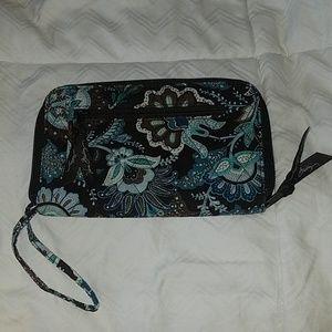Very bradley dark brown and blue wallet